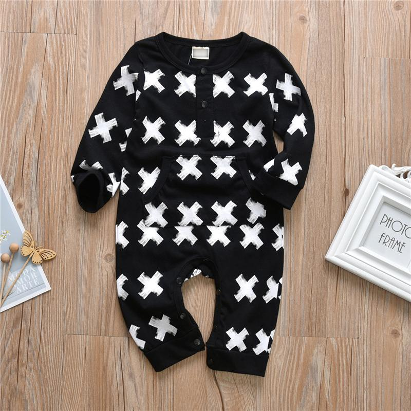 Geometric Pattern Jumpsuit for Baby