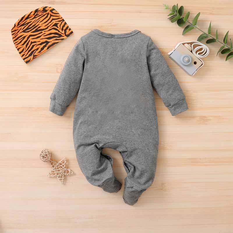 2-piece Cartoon Design Jumpsuit & Hat for Baby Boy