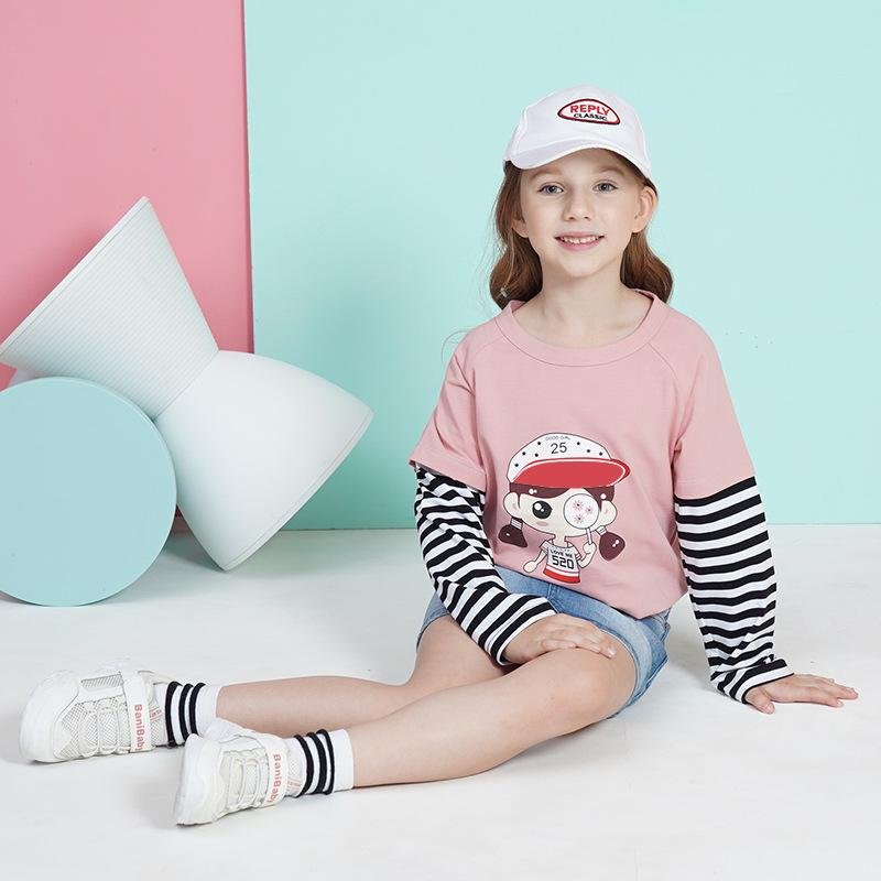 Stripes Pattern T-shirt for Girl