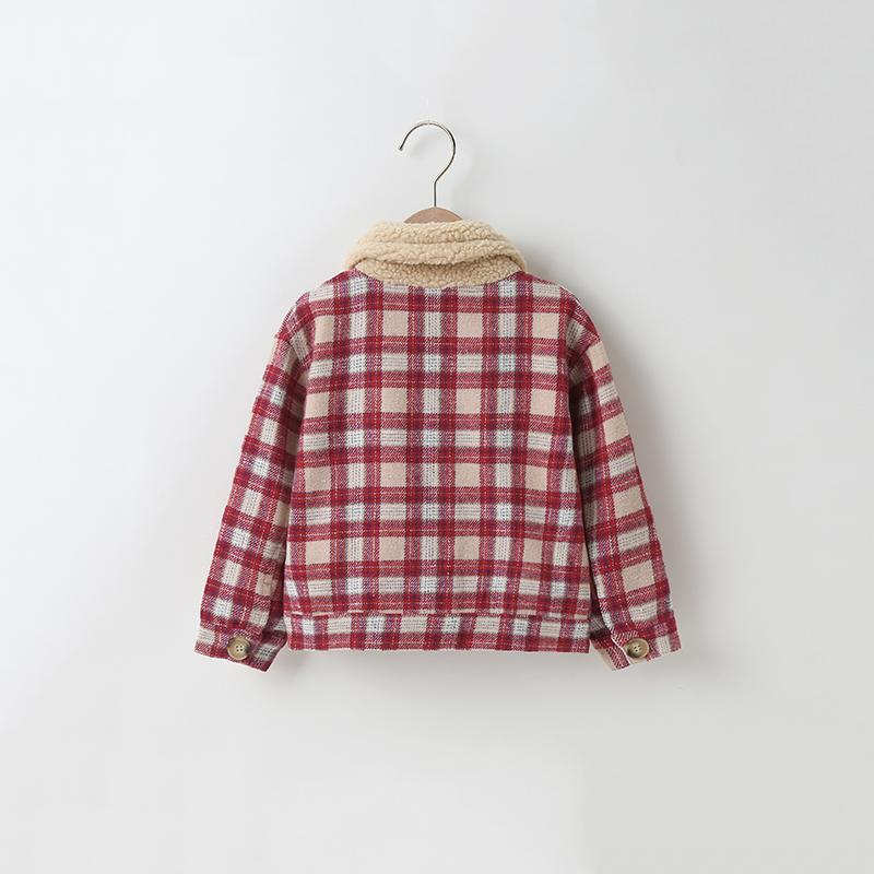 Plaid Pattern Coat for Toddler