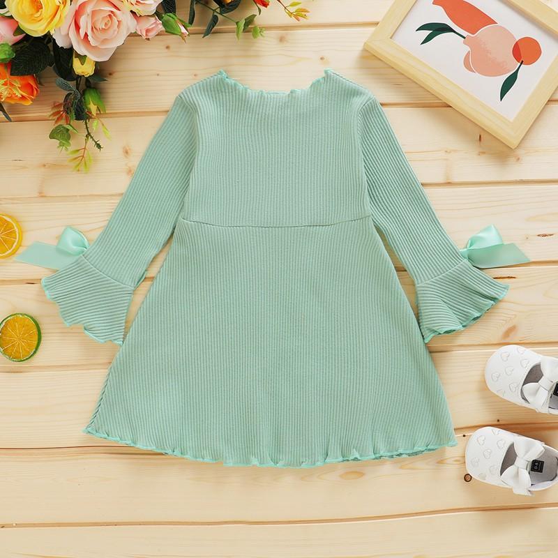 Solid Knit Dress for Toddler Girl