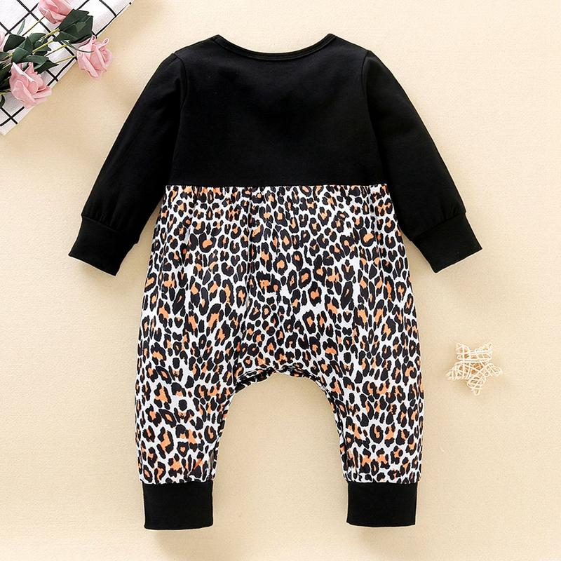 Leopard Pattern Jumpsuit for Baby Girl