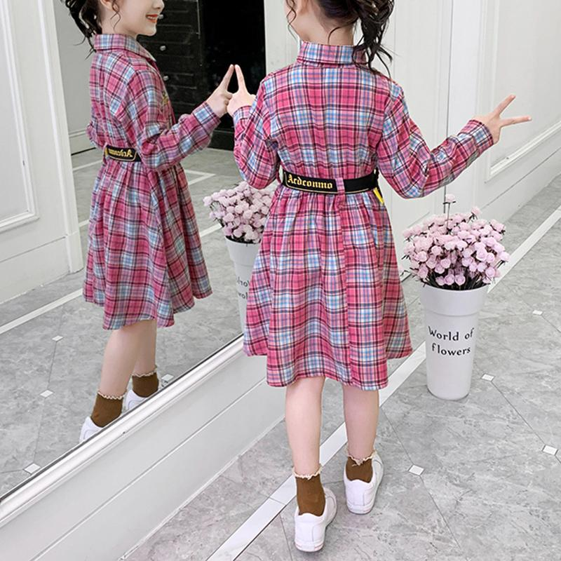 Plaid Preppy Style Dress for Girl