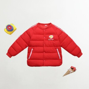 Solid Extra Thick Puffer Jacket for Girl