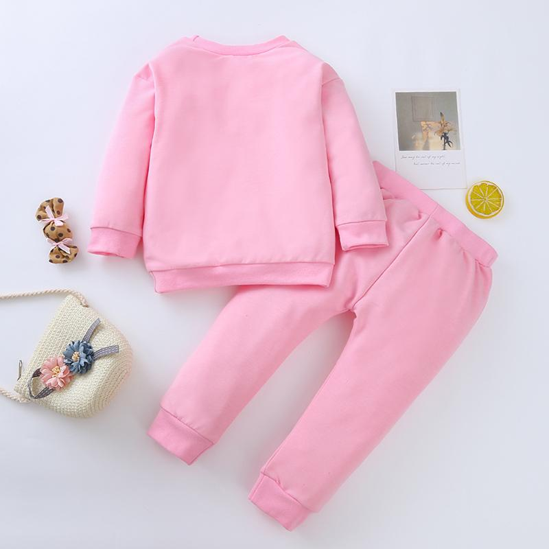 2-piece Cat Pattern Suit for Baby Girl