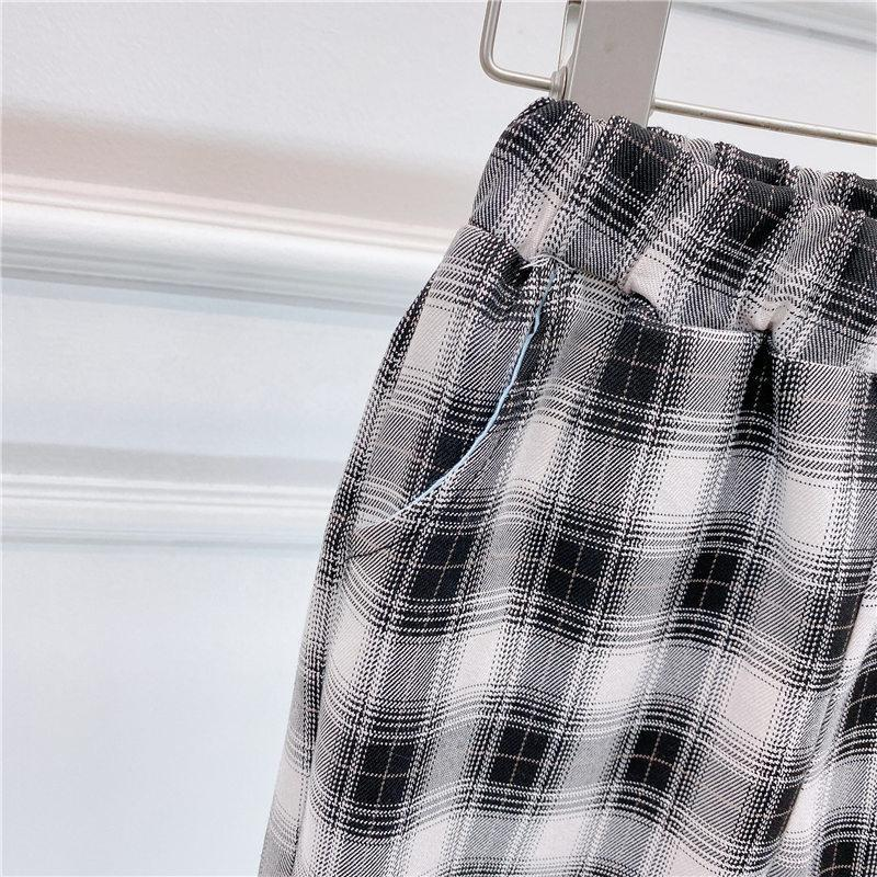 Plaid Sports Pants for Toddler Girl