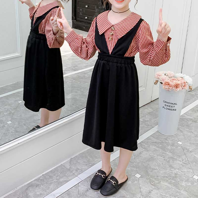 2-piece Shirts & Strap Dress for Girl