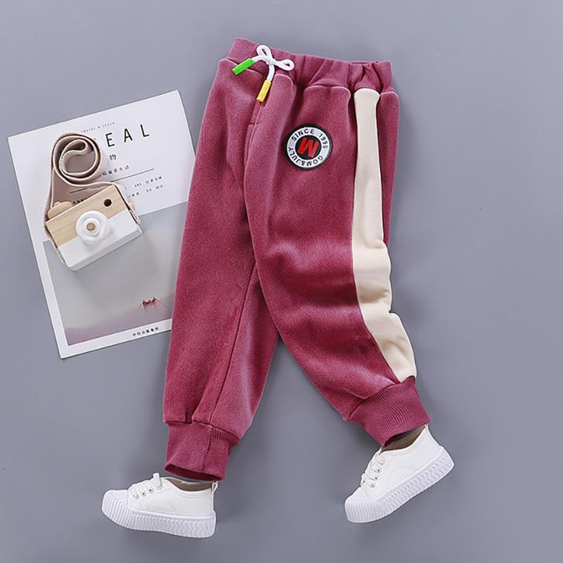Color-block Sports Flannel Pants for Toddler Girl