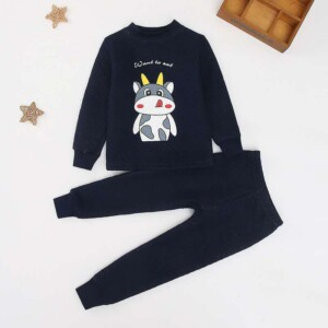 2-piece Cartoon Design Thick Pajamas Sets for Boy