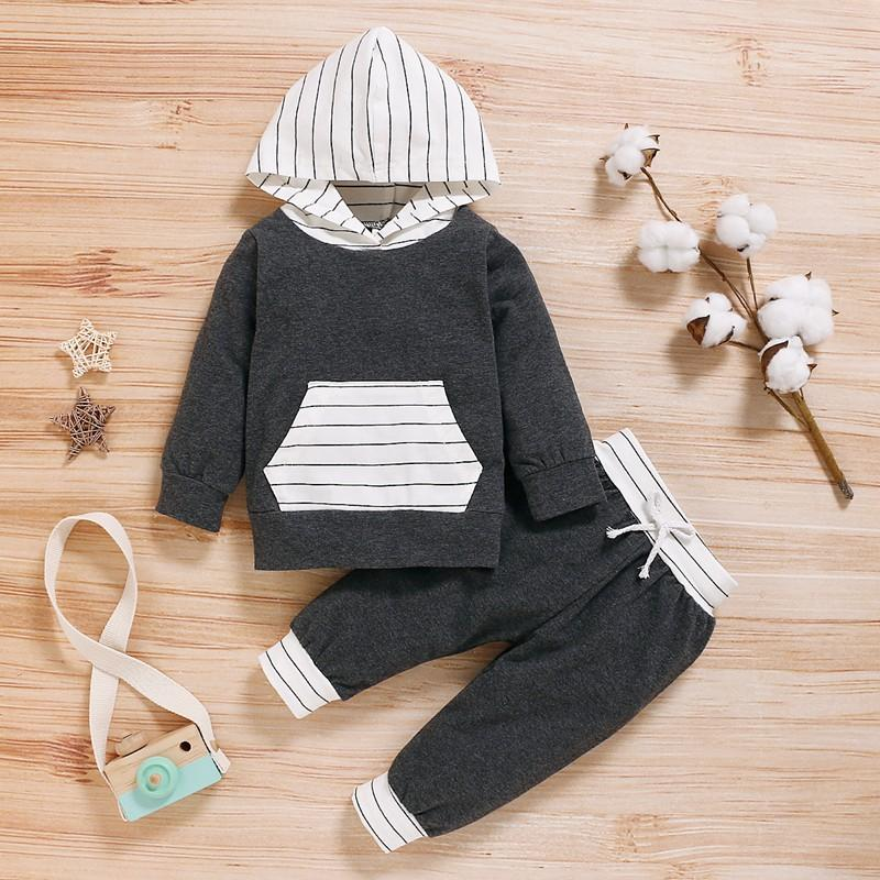 2-piece Striped Hoodie & Pants for Baby