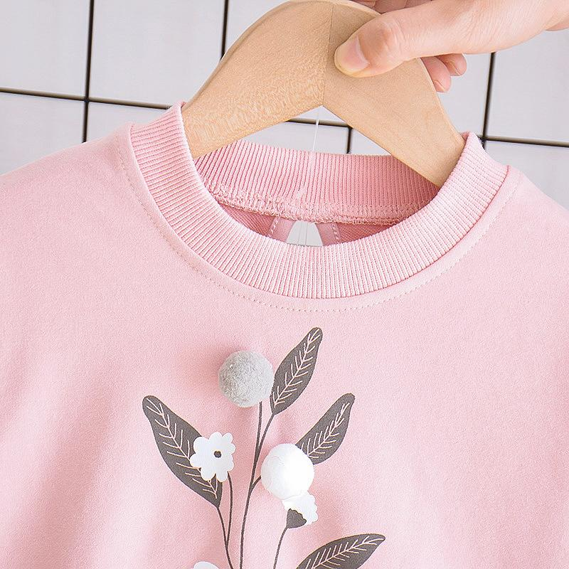 2-piece Floral Printed Sweatshirts & Pants for Toddler Girl