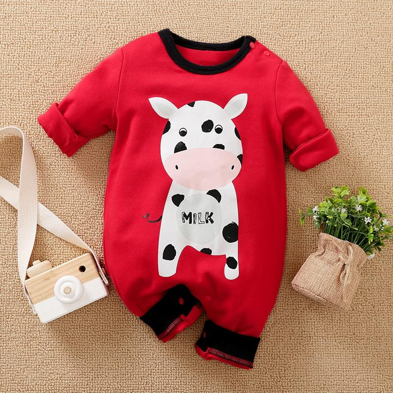 Cows Pattern Jumpsuit for Baby Boy