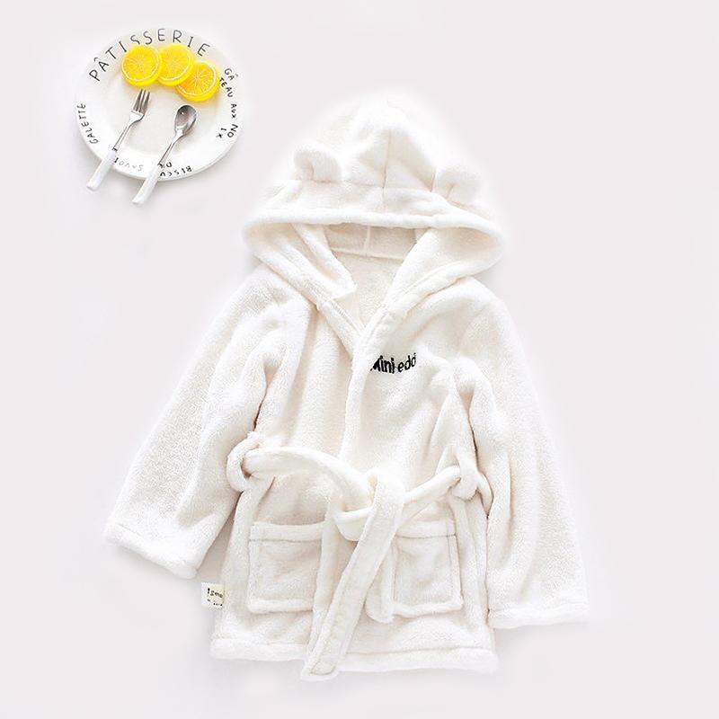 Solid Soft Cute Baby Bathrob
