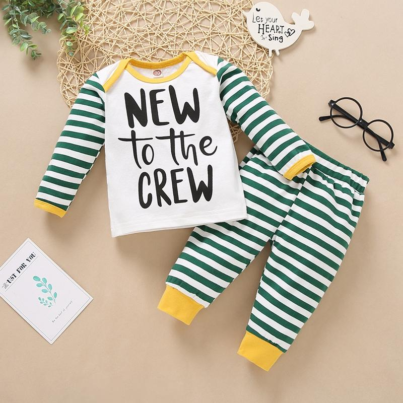 2-piece Stripes Hoodie & Stripes Pants for Baby