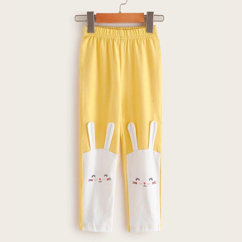 Cartoon Design Knit Pants for Toddler Girl