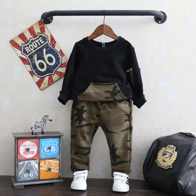 2-piece Camouflage Pattern Suit for Toddler Boy