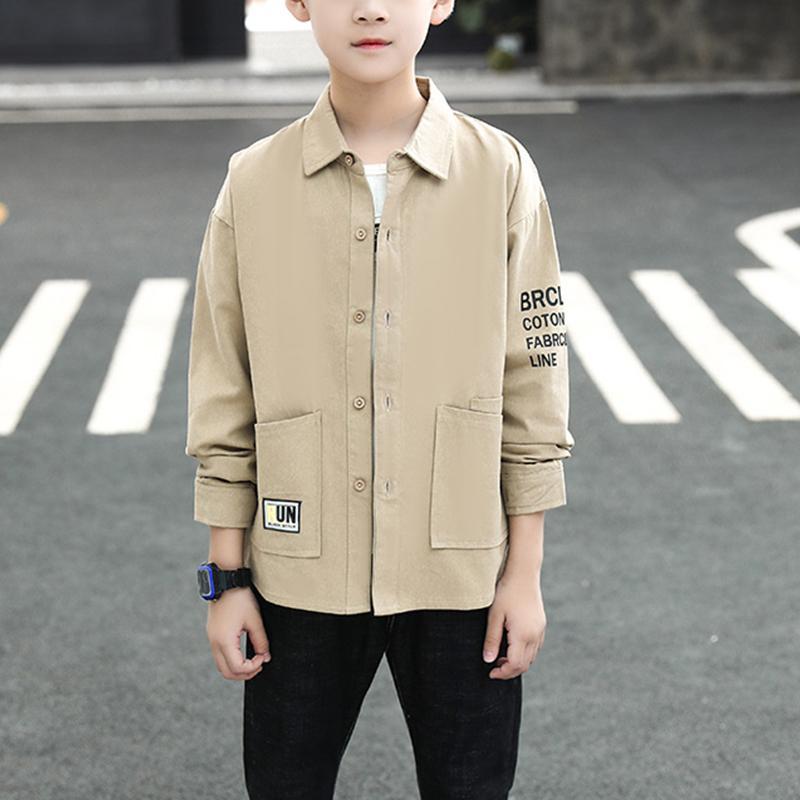 Letter Pattern Long Sleeve Shirt for Boy