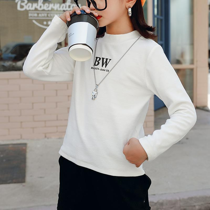 Letter Pattern Knitted Sweater for Girl