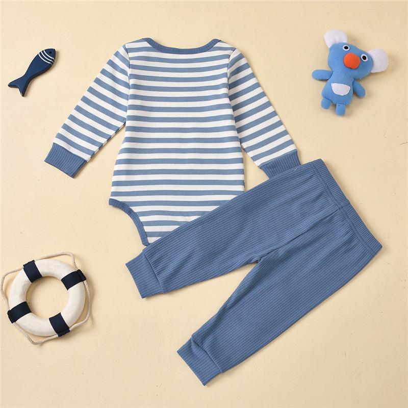 2-piece Stripe Bodysuit & Pants for Baby Boy