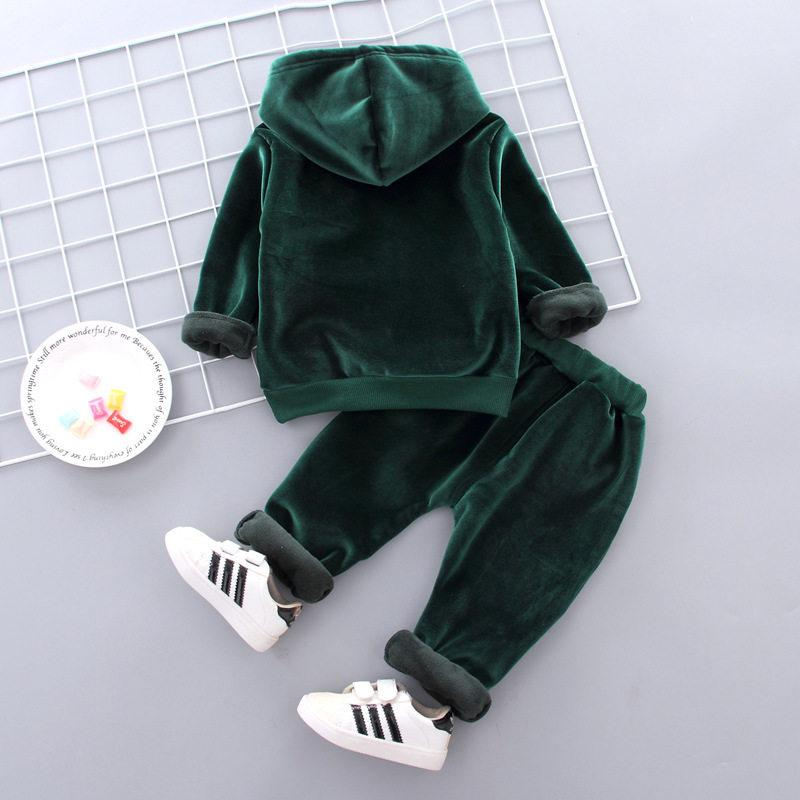 2-piece Letter Pattern Thick Suit for Toddler Boy