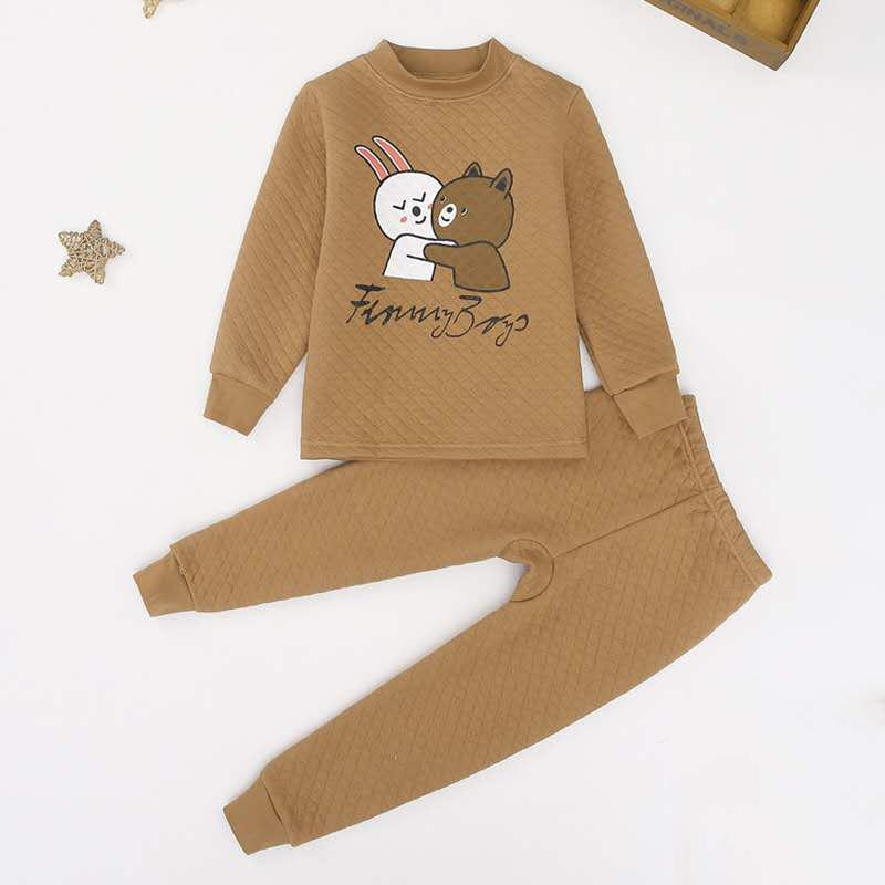 2-piece Cartoon Design Thick Pajamas Sets for Boy