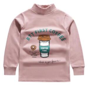 Cartoon Pattern Long Sleeve T-shirt for Girl