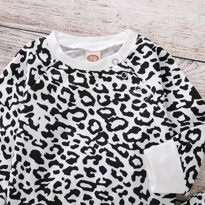 2-piece Leopard Sweatshirt & Pants for Baby Girl