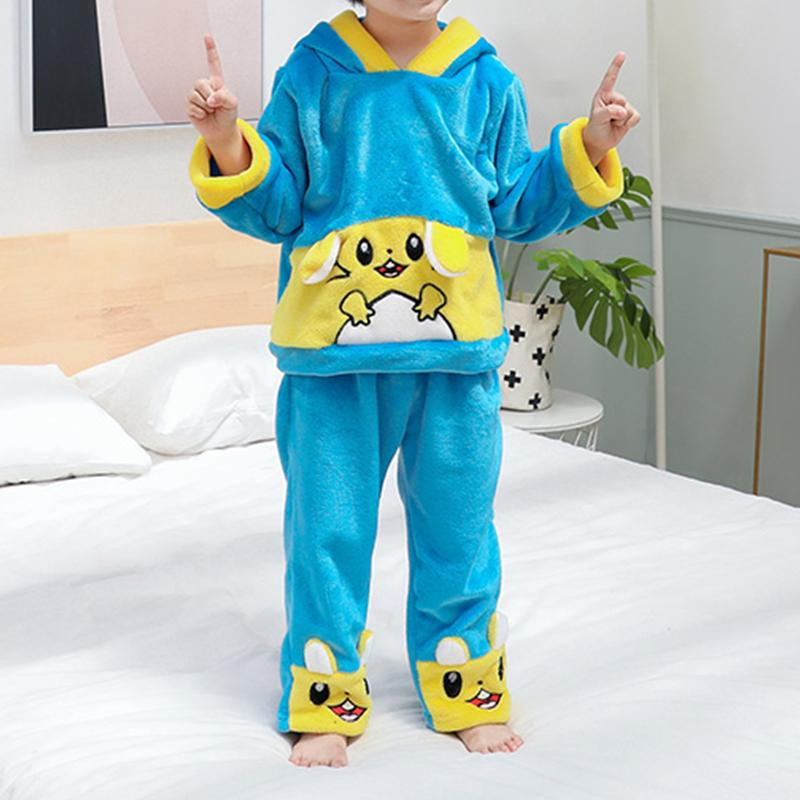 2-piece Animal Pattern Flannel Suit for Toddler Boy