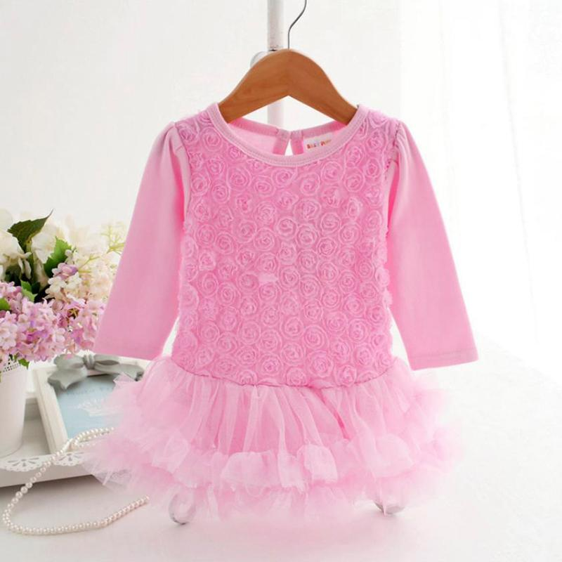 Solid Lace Bodysuit for Baby Girl