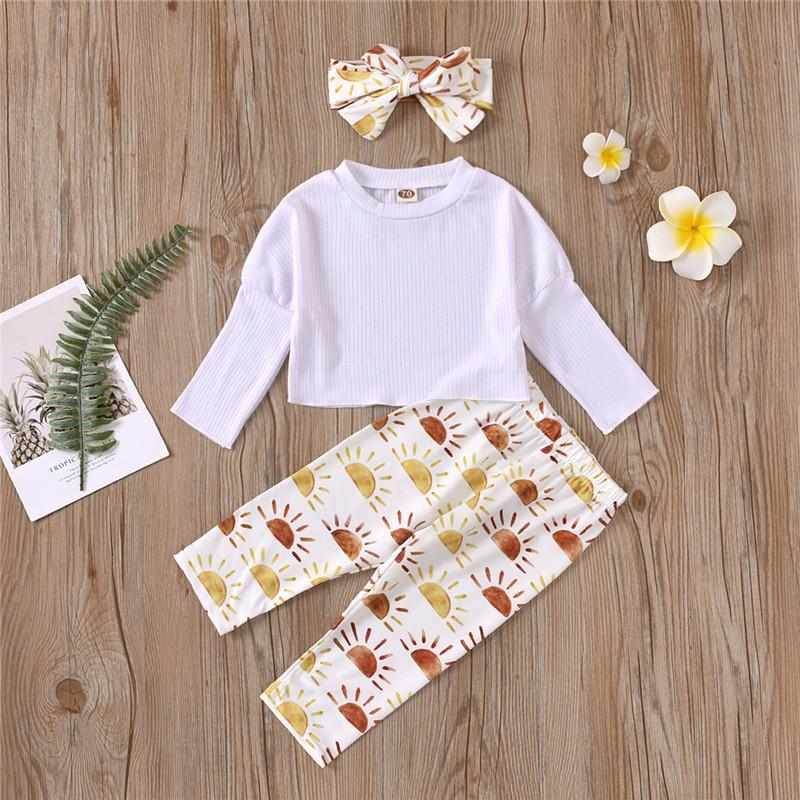 2-piece Hoodie & Sun Pattern Pants for Baby Girl