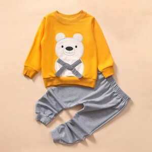 2-piece Beer Pattern Hoodie & Pants for Toddler Boy