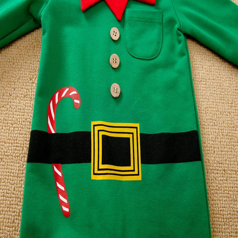 2-piece Christmas Jumpsuit & Hat for Baby Boy