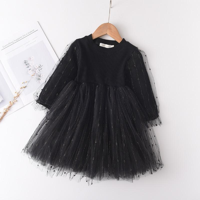 Sweet Solid Patchwork Tulle Dress for Toddler Girl