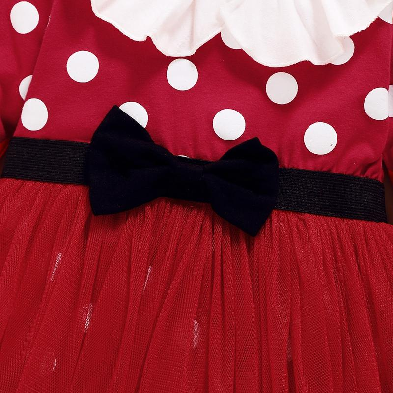 2-piece Polka Dot Dress & Headband for Baby Girl