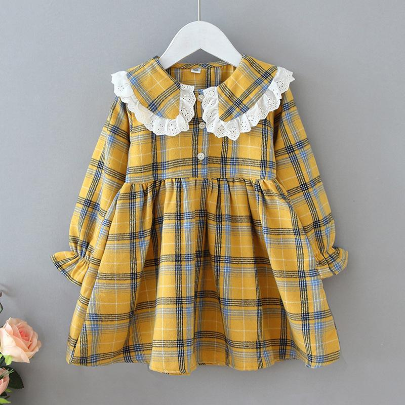 Casual Plaid Dress for Toddler Girl