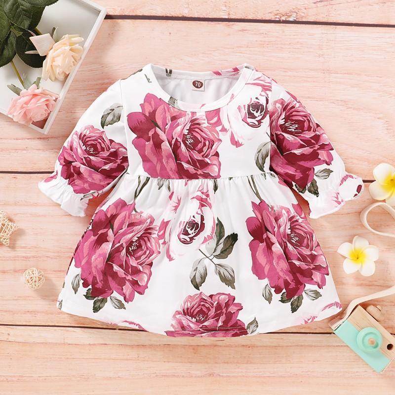 Floral Printed Dress for Baby Girl