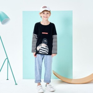 Stripes Pattern Long sleeve T-shirt for Boy