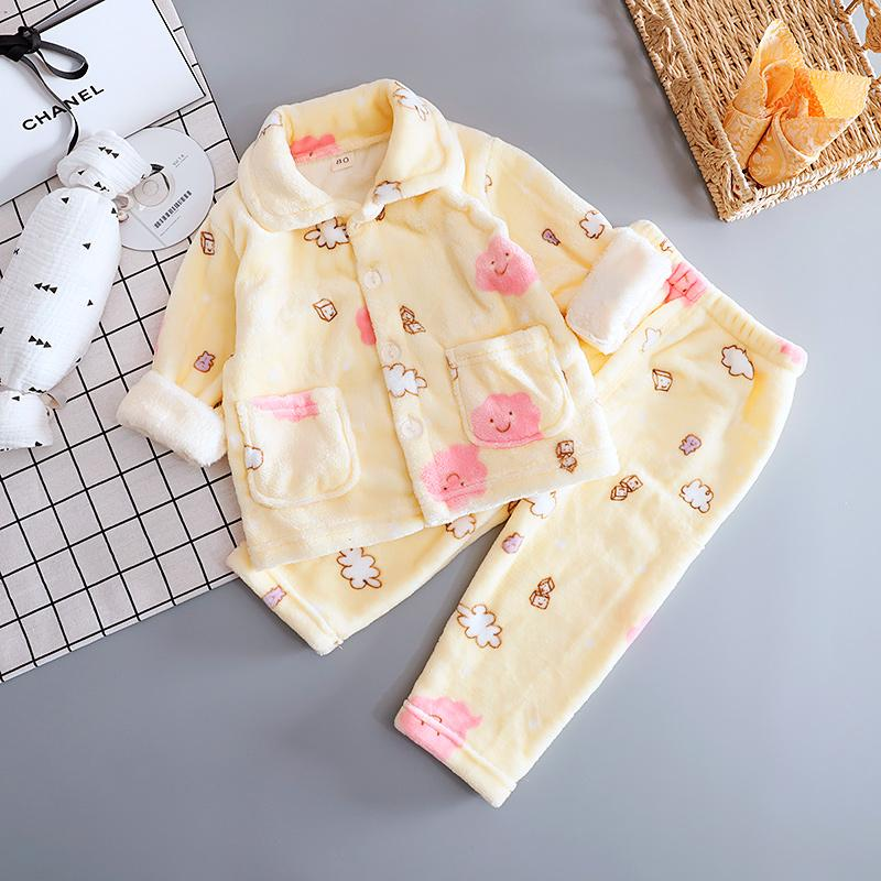 2-piece Flannel Pajamas Sets for Toddler Girl