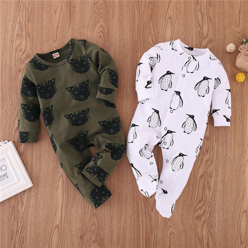 Penguin Pattern Jumpsuit for Baby Boy