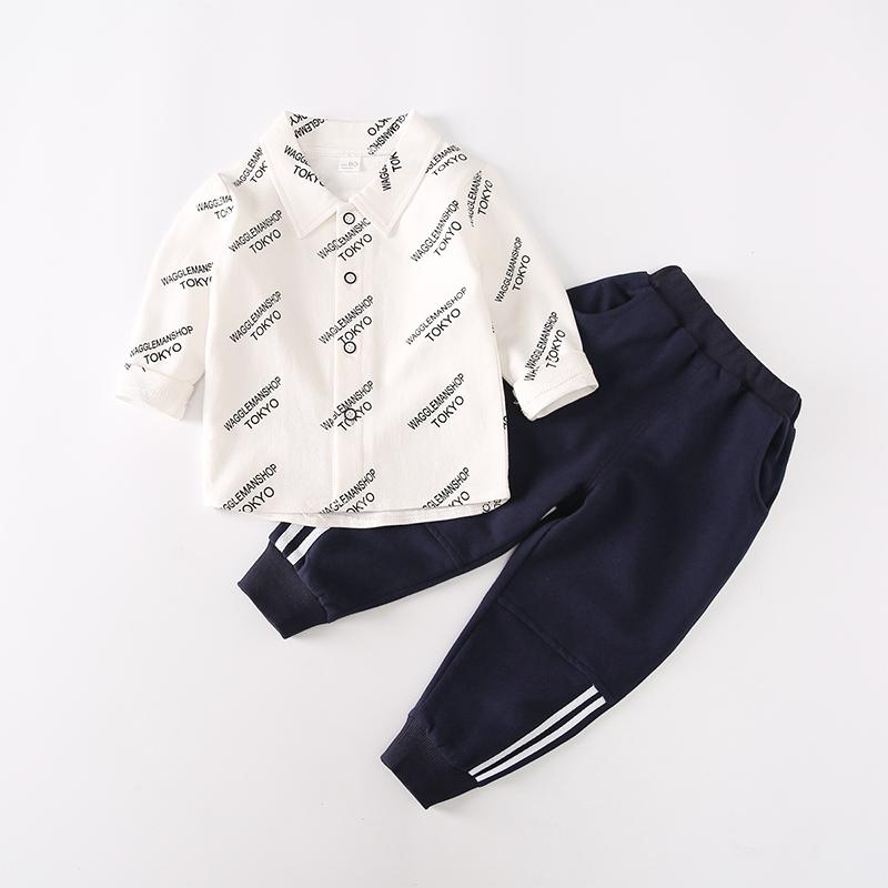 2-piece Letter Pattern Shirt & Pants for Toddler Boy