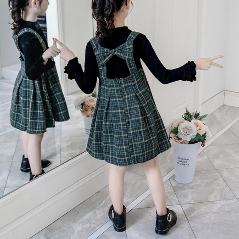 2-piece Swester & Plaid Skirt for Girl
