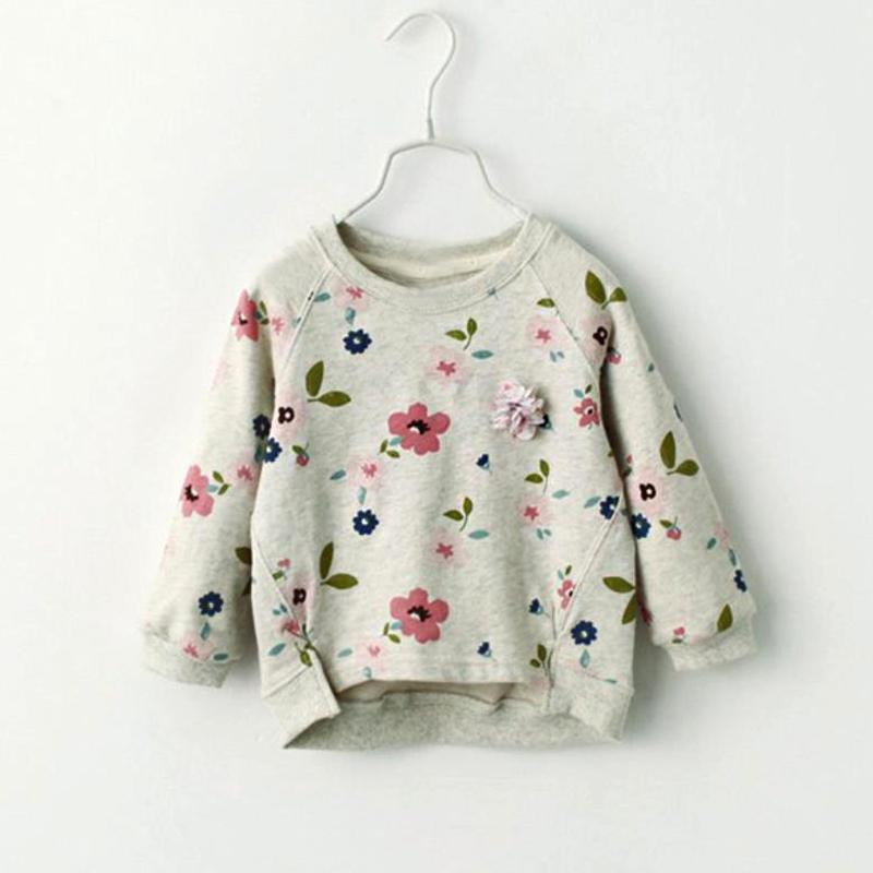 Floral Printed Sweatshirts for Toddler Girl