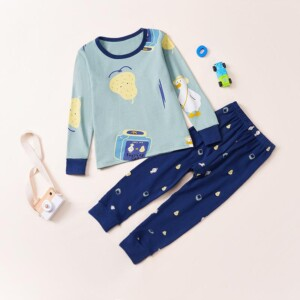 2-piece Cartoon Pattern Pajamas Sets for Toddler