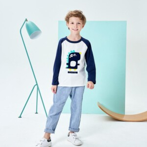 Dinosaur Pattern Long sleeve T-shirt for Boy