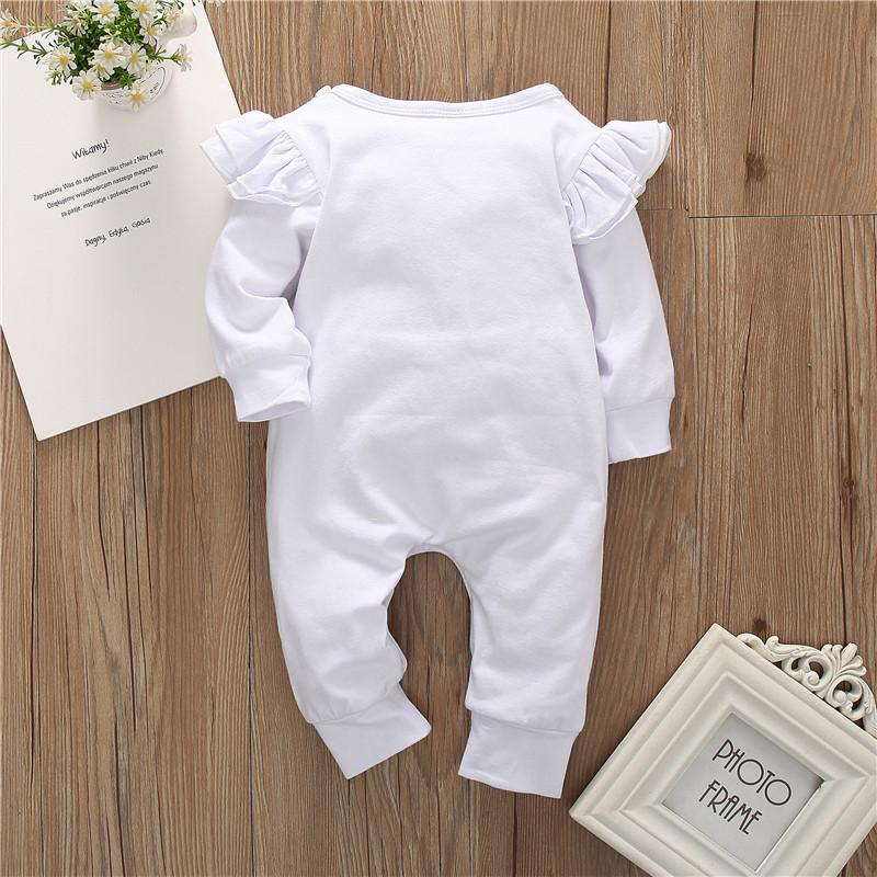 Letter Pattern Jumpsuit for Baby Girl
