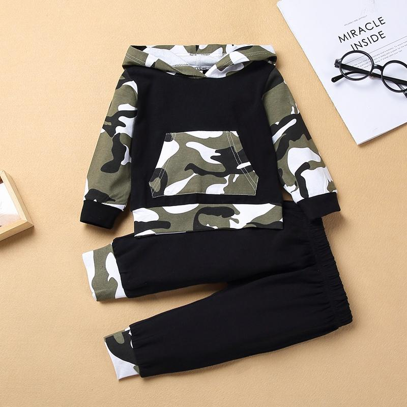 2-piece Camouflage Hoodie & Pants for Baby Boy