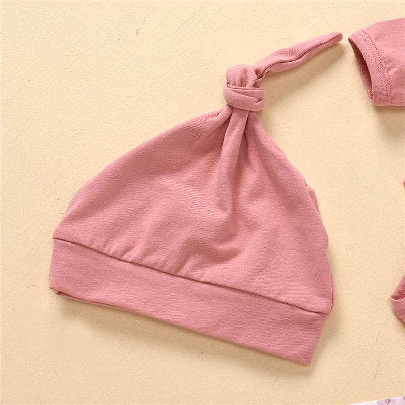 3-piece Jumpsuit & Floral Pattern Pants & Hat for Baby Girl