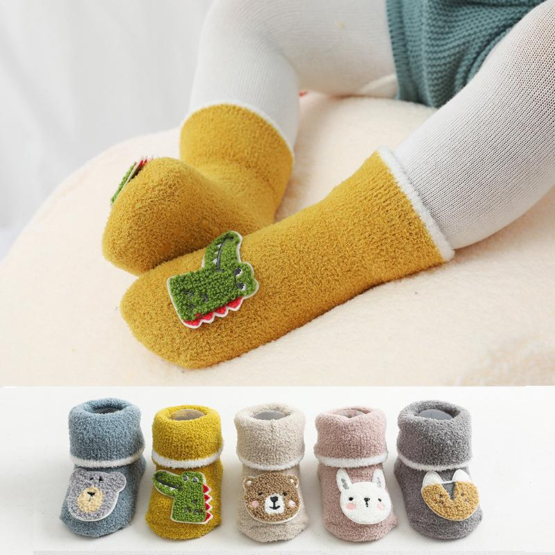 Cartoon Pattern Knee-High Stockings for 0-3 Years Old Baby