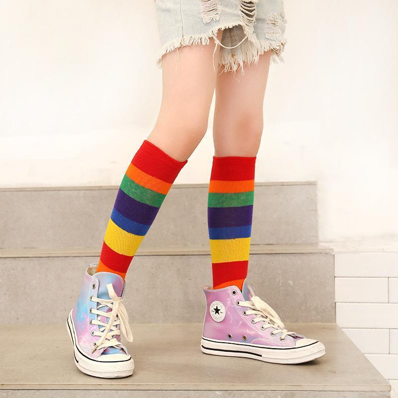 Color-block Knee-High Stockings