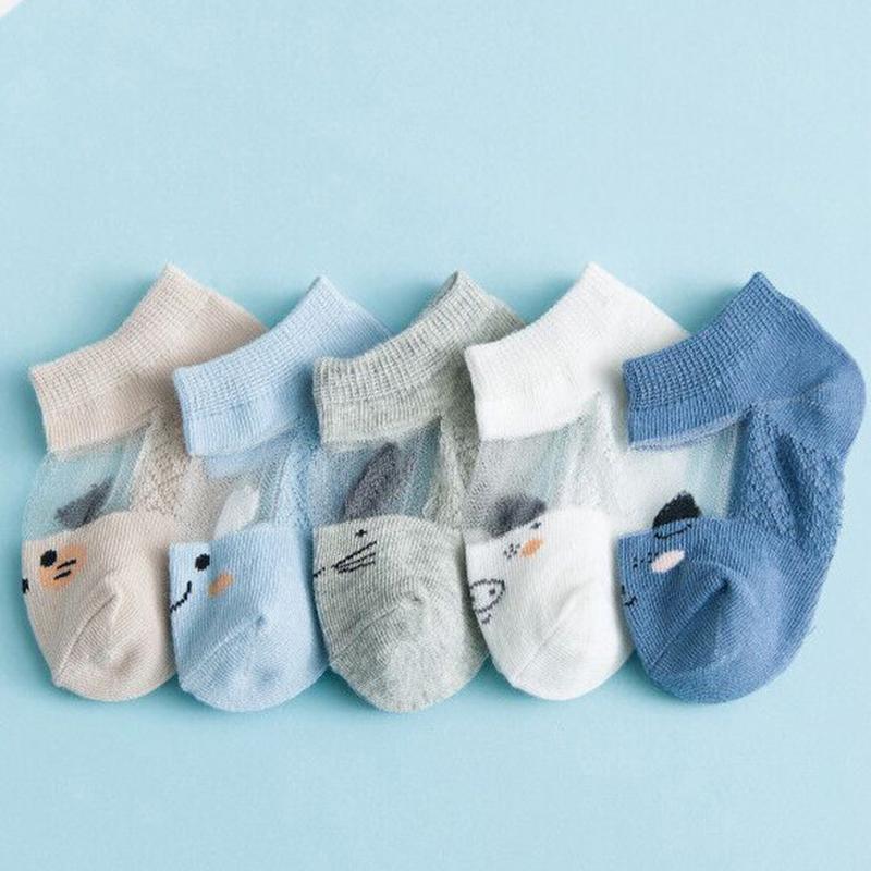 5-piece Cartoon Design Yarn Socks